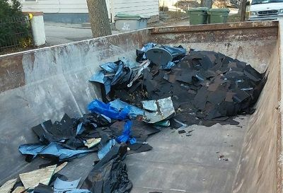 Dumpsters for shingles